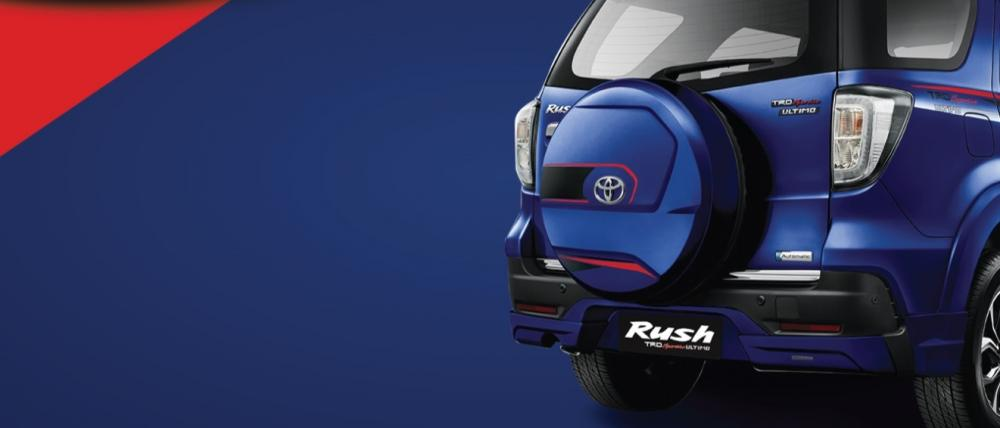 Gambar bagian belakang mobil Toyota Rush