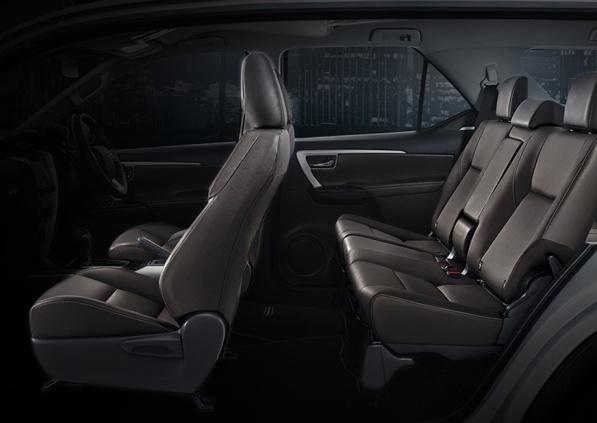 Bagian kursi mobil Toyota Fortuner