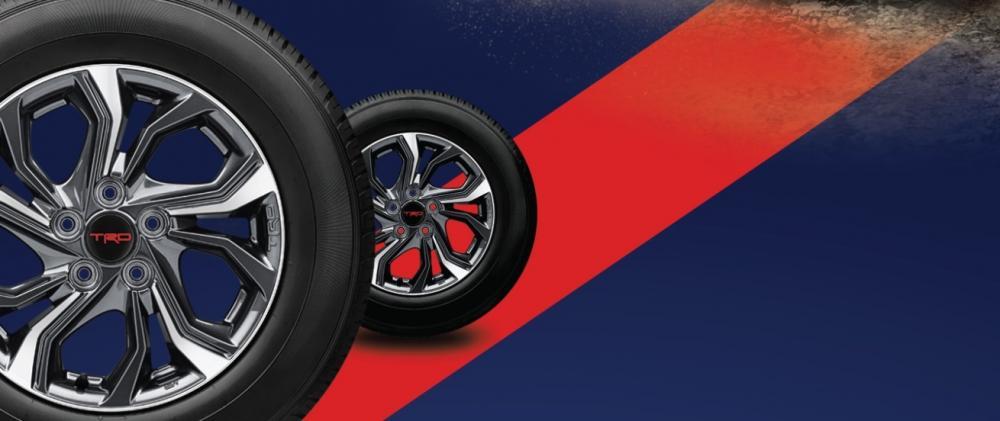 Gambar dua roda yang dipakai untuk mobil Toyota Rush