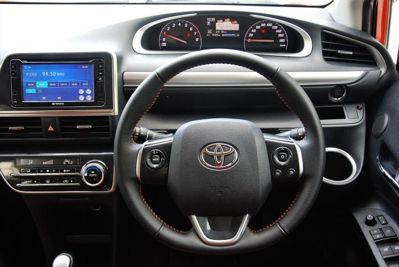 Gambar bagian setir mobil Toyota Sienta