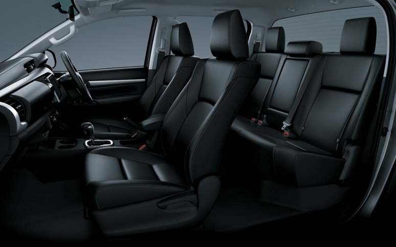 Gambar bagian kursi mobil Toyota Hilux