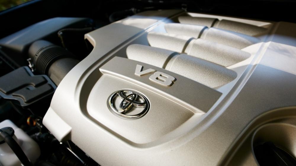 Gamabr bagian mesin mobil Toyota Land Cruiser