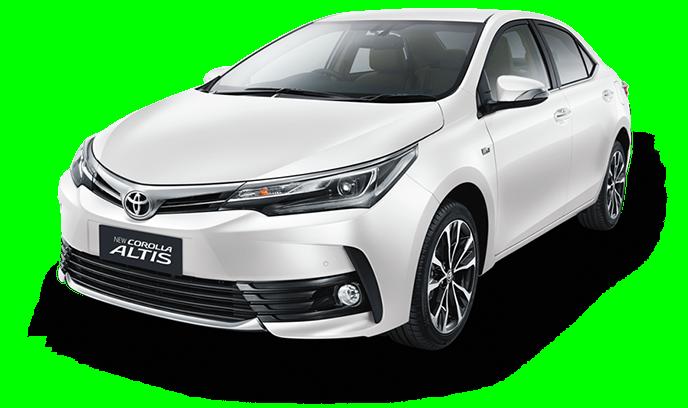 Eksterior samping Toyota Corolla Altis 2017 menggunakan pelek berdesain Alumunium Wheel 17