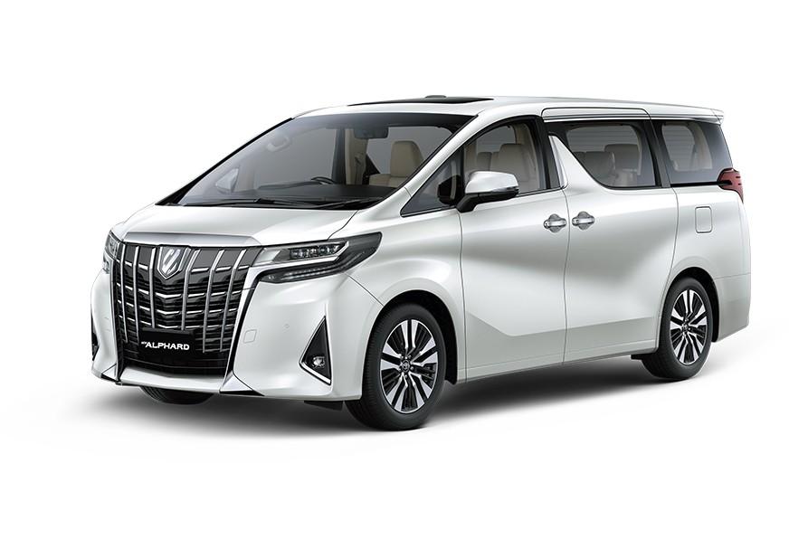 Eksterior depan Toyota Alphard Facelift 2018 mengusung desain Front Grille yang lebih tegas