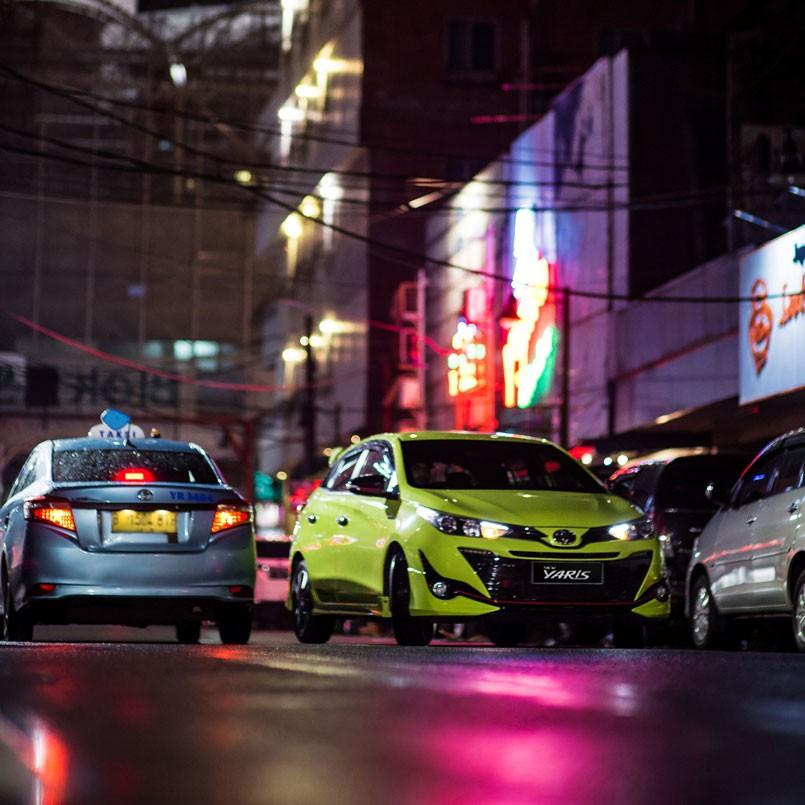 Tampilan Toyota Yaris 2018 menyampaikan pesan tegas, sporty dan aerodinamis
