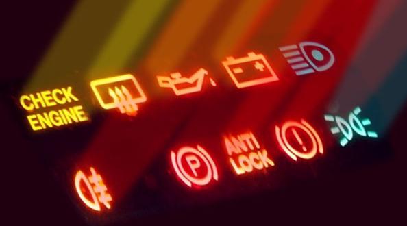 Gambar ini menunjukkan beberapa maca lampu indikator yang biasanya terdapat pada mobil