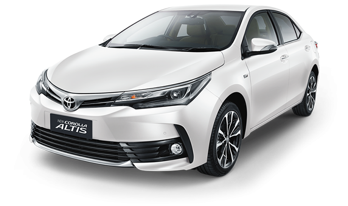Dua Varian Toyota Corolla Altis berwarna putih