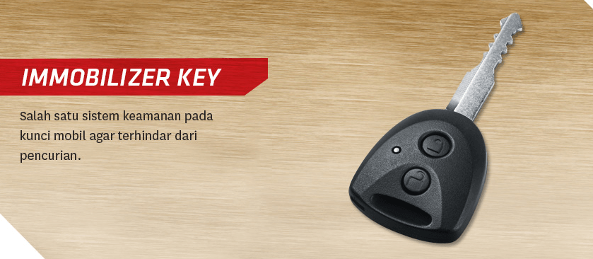 Gambar ini menunjukkan kunci immobilizer pada mobil toyota Calya