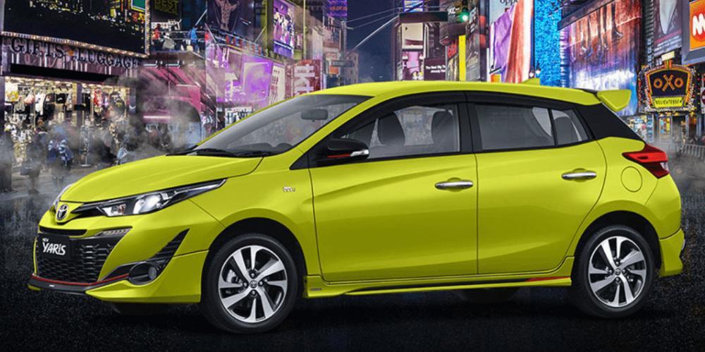 desain velg Toyota new Yaris berwarna kunning