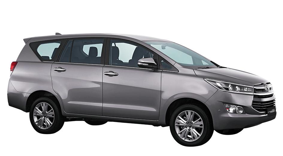Gambar ini menunjukkan Toyota All New Kijang Innova terlihat dari bagian samping