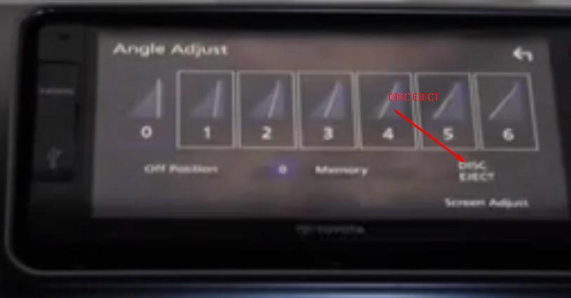 Gambar ini menunjukkan beberapa pilihan menu dan salah satunya adalah untuk membuka tempat DVD/CD