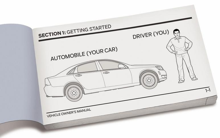 Gambar ini menunjukkan salah satu isi dari buku manual kendaraan