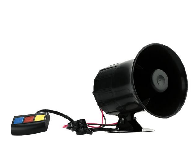 Gambar ini menunjukkan sebuah speaker kecil yang kkadang digunakan pada kendaraan untuk membunyikan sirene