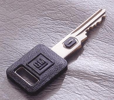 Gambar ini menunjukkan kunci mobil jenis Vehicle Anti-Theft system (VATs)