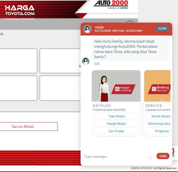 Chatbox Tasia Auto2000