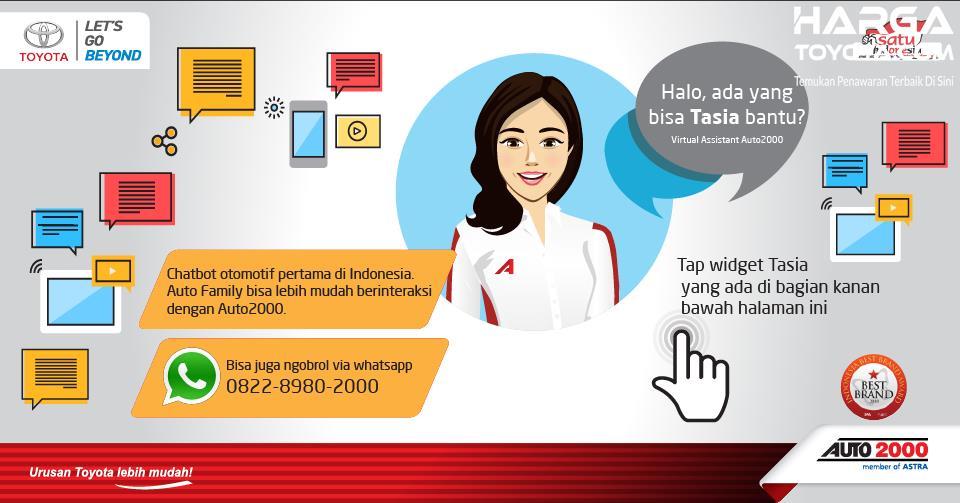Kemampuan sistem Tasia sebagai asisten virtual Auto2000