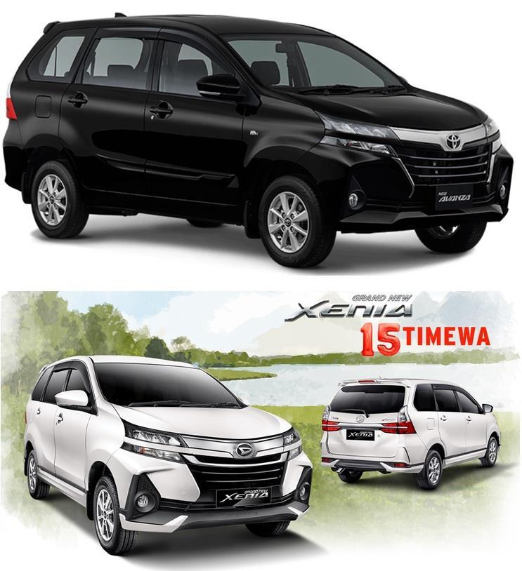 Perbandingan Eksterior Toyota Avanza 2019 dan Daihatsu Xenia 2019 berbeda dalam hal Aerokit