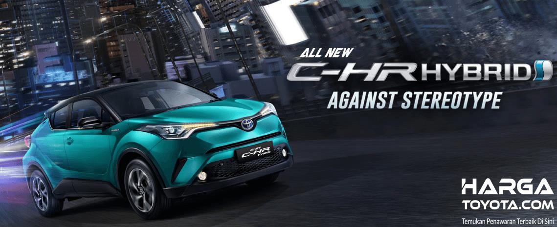 Gambar ini menunjukan Mobil All New Toyota C-HR Hybrid 2019