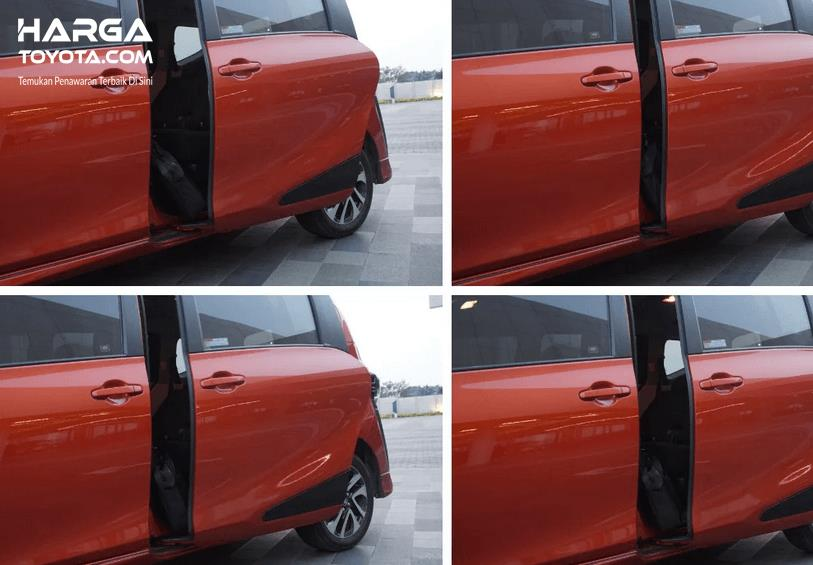 Gambar ini menunjukkan cara kerja pintu geser Toyota Sienta