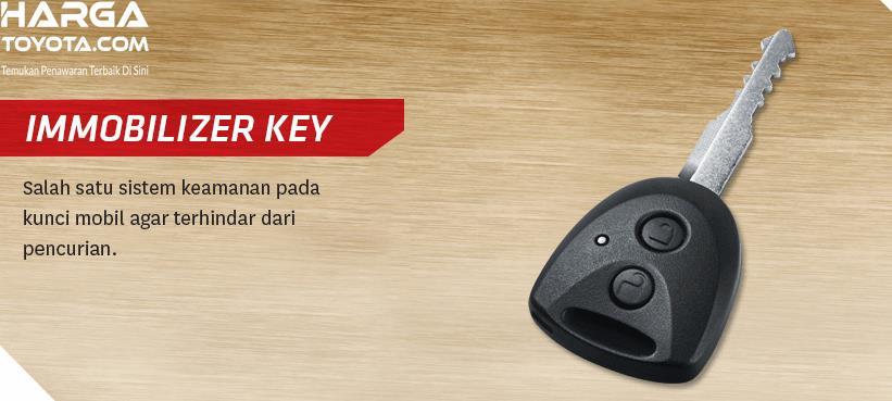 Gambar ini menunjukkan kunci Toyota Calya  dengan 2 tombol