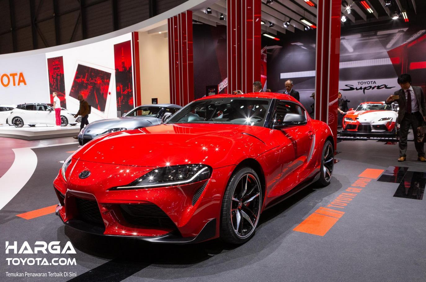 Foto Toyota Supra saat di pameran Geneva Motor Show 2019