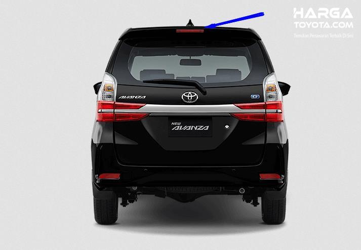 Gambar ini menu menunjukkan mobil Toyota Avanza tampak bagian belakang