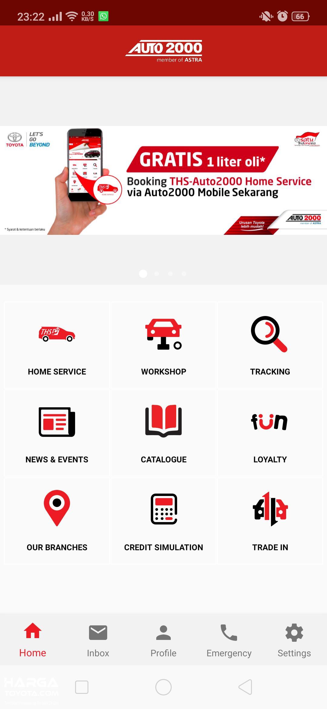 Gambar fitur dalam Aplikasi Auto2000 Mobile