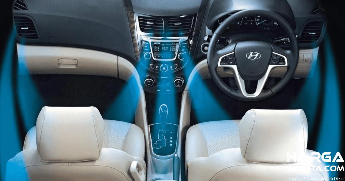Gambar ini menunjukkan ilustrasi hembusan AC mobil