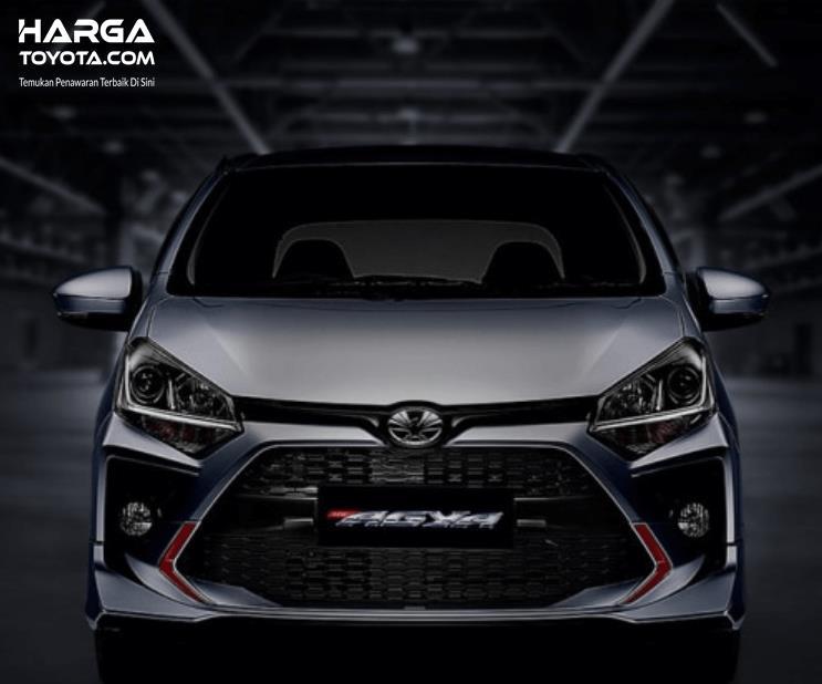 Gambar ini menunjukkan mobil Toyota New Agya 2020 tampak depan