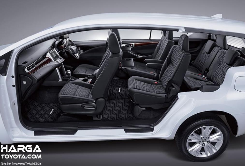 Gambar ini menunjukkan interior mobil New Toyota Kijang Innova 2020