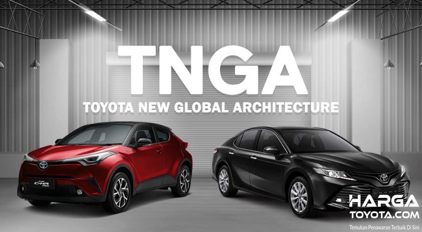 Gambar ini menunjukkan 2 mobil yang menggunakan platform TNGA