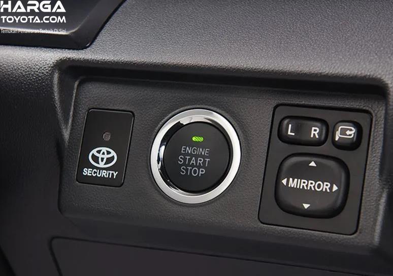 Gambar ini menunjukkan tombol spion electrik pada mobil