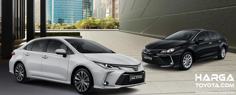 Gambar ini menunjukkan mobil Toyota Corolla Altis versi bensin
