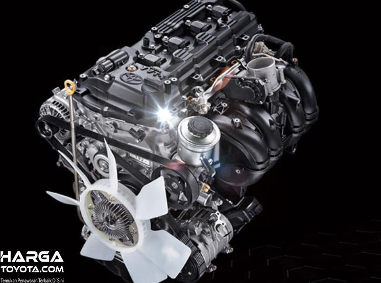 Gambar ini menunjukkan mesin 2GD-FTV pada mobil Toyota