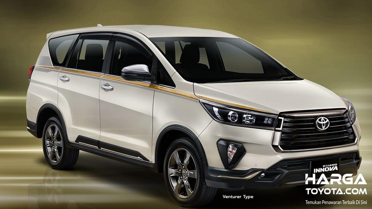 Gambar ini menunjukkan sisi depan mobil Toyota Kijang Innova Limited Edition