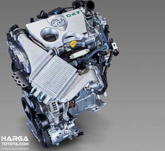 Gambar ini menunjukkan mesin turbo Toyota
