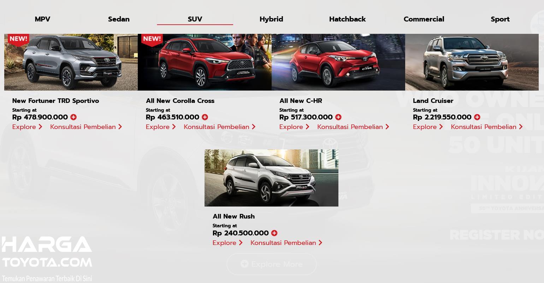 Gambar  ini menunjukkan mobil SUV Toyota