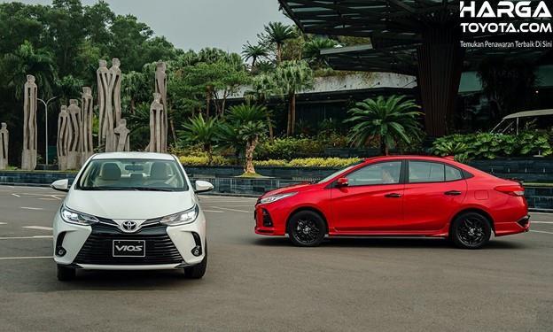 Gambar menunjukkan tampilan dari mobil Toyota Vios