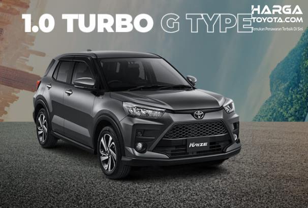 Gambar ini menunjukkan mobil Toyota Raize 1.0 Turbo tampak sisi depan
