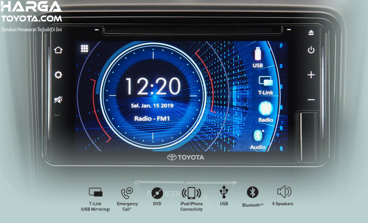 Gambar ini menunjukkan head unit Toyota Avanza G 1.5 MT