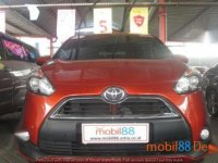 Toyota Sienta V AT 2016 ORANGE METALIK Cantik Unit Terawat [88Dpk121]