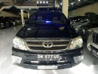 Toyota Fortuner G Luxury 2008 metik bensin hitam asdk.