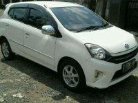 Putih siap pakai kredit murah Toyota Agya G at 2013 plat Z