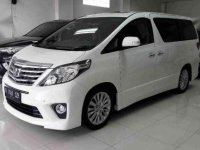 Toyota Alphard Automatic Tahun 2012 Type G S C Package