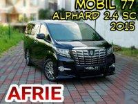 Toyota New Alphard 2.4 SC Premium Sound Automatic 2015 ODO