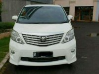 Jual Toyota Alphard 2.4 S Alles White on Black 2011 Family Car Dp Ringan