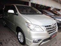 2014 Kijang Innova V MT Luxury  Silver dijual