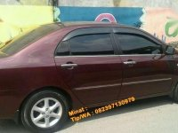 2002 Toyota corolla altis Plat AE dijual