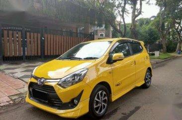 Jual Toyota Agya TRD Sportivo MT 2017 Kuning Kondisi Super Istimewa